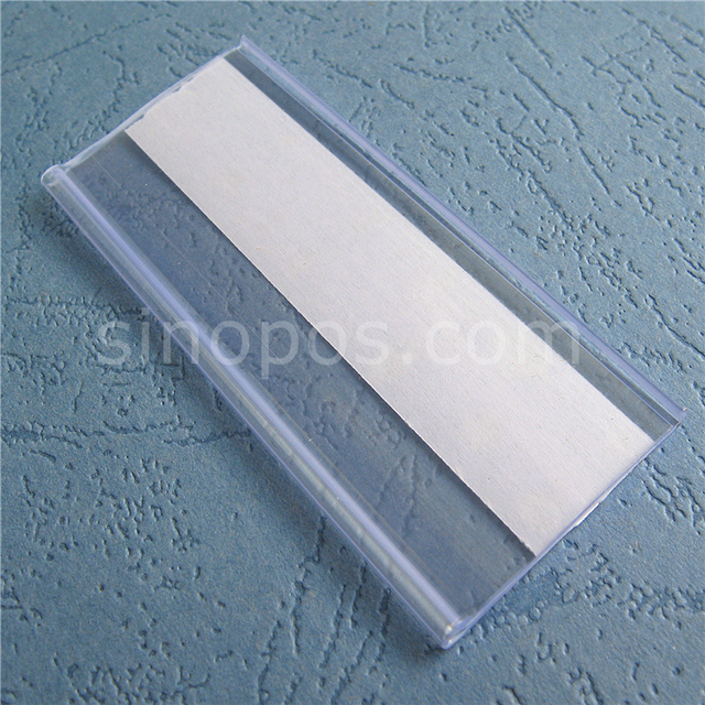 Self adhesive Data Strip Label Holder, tray rack shelf edge display ...