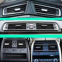 Front Row Wind Left Center Right Air Conditioning Vent Grill Outlet With Chrome Plate For BMW 7 Series F02 730 735 745 750