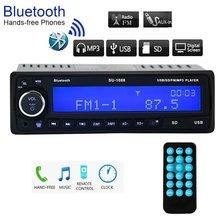 Coche receptor estéreo de Audio de MP3 reproductor de Radio FM 12 V Bluetooth1 DIN EN Dash/USB/SD/coche a AUX electrónica con Control remoto gran LCD