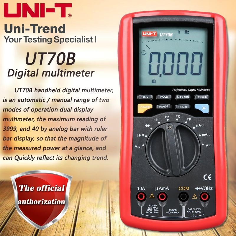 UNI-T UT70B Digital Multimeters, Autoranging Digital Multimeters Temperature Test Analog Pointer Backlight RS232 Data Transfer 4 8 days arrival hioki 3030 10 analog multimeters