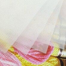 Высокое качество 14CT чистый пластик холст ткань для вышивки крестом орнамент украшения колокольчики, 28x21 см/шт