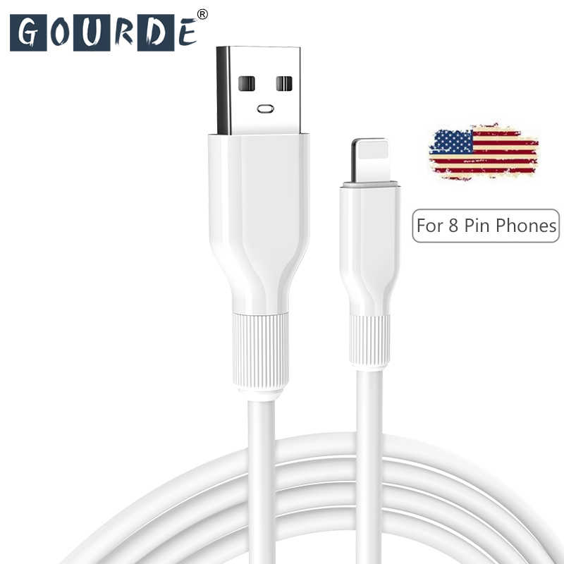 Cable cargador USB de calabaza para iPhone Xs Max X 7 8 Plus a Cable de iluminación de carga rápida para iPhone XR 6 6s Plus USB Cable de datos