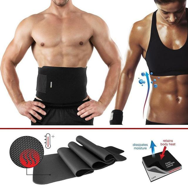 3d07985af3 Women Men Waist Trainer Cincher Belt Fitness Body Shaper Slimming Belt  Shapewear Waist Cincher Corset Fat