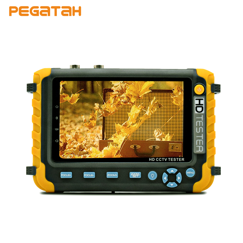 New 5 inch 1080P AHD CVBS Analog in one cctv tester monitor camera tester