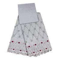 Bazin Riche In White Embroidered Guinea Brocade Bazin Breathable Jacquard Fabrics For Women Dress 3 2