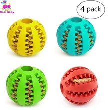 Pet Dog Toothbrush Toy Funny Interactive Elasticity Ball Chew For Teeth Clean Of Food Extra-tough Rubber