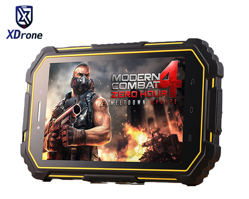 China Military IP67 Rugged Android 6.0 Waterproof Shockproof Tablet PC Phone Dual Sim 4G 2G RAM Quad Core GPS American Version original 7 shockproof rugged waterproof tablet pc octa cores cell phone gnss gps 2 5 glonass lf uhf rfid android 4 2 zigbee nfc