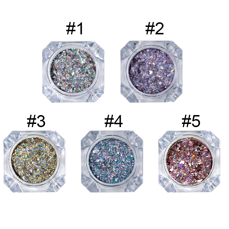 Image 4 - BORN PRETTY 1g Holo Laser Flakes Shiny Nail Sequins Holographic Glitter Powder Paillette 3D Nail Art Decoration DIY Manicure-in Nail Glitter from Beauty & Health