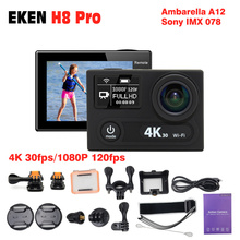 """2017 Hot ~ Ursprüngliche EKEN H8 PRO Ultra HD Action Kameras Ambarella A12 chip 2,0 """"Bildschirm 4 karat/30fps 1080 p/120fps h8pro GEHEN sport Kamera"""