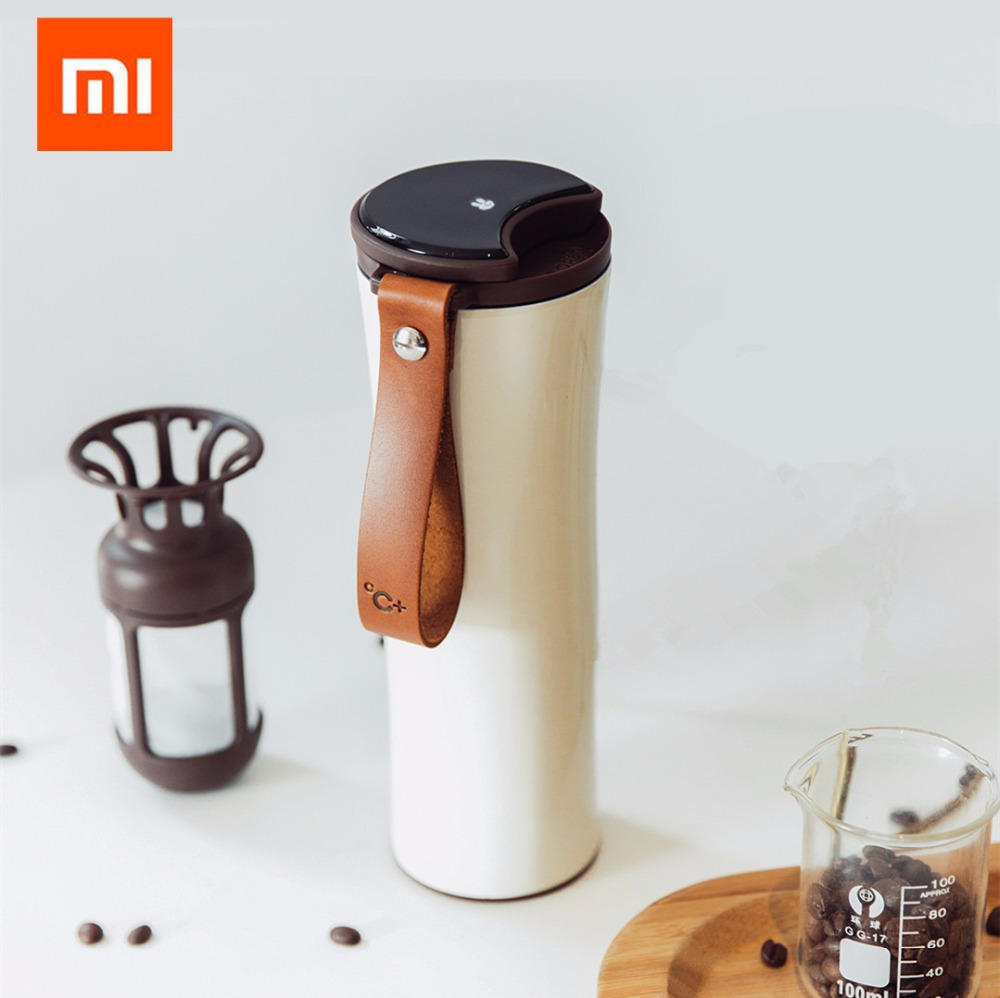Xiaomi Kiss Kiss Fish Slim Smart Cup Coffer filter 430ml OLED Temperature Screen Stainless Steel Hot