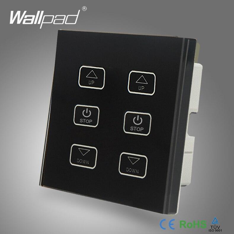 110v 250v Led Dimmer Switch Wallpad Black Tempered Glass
