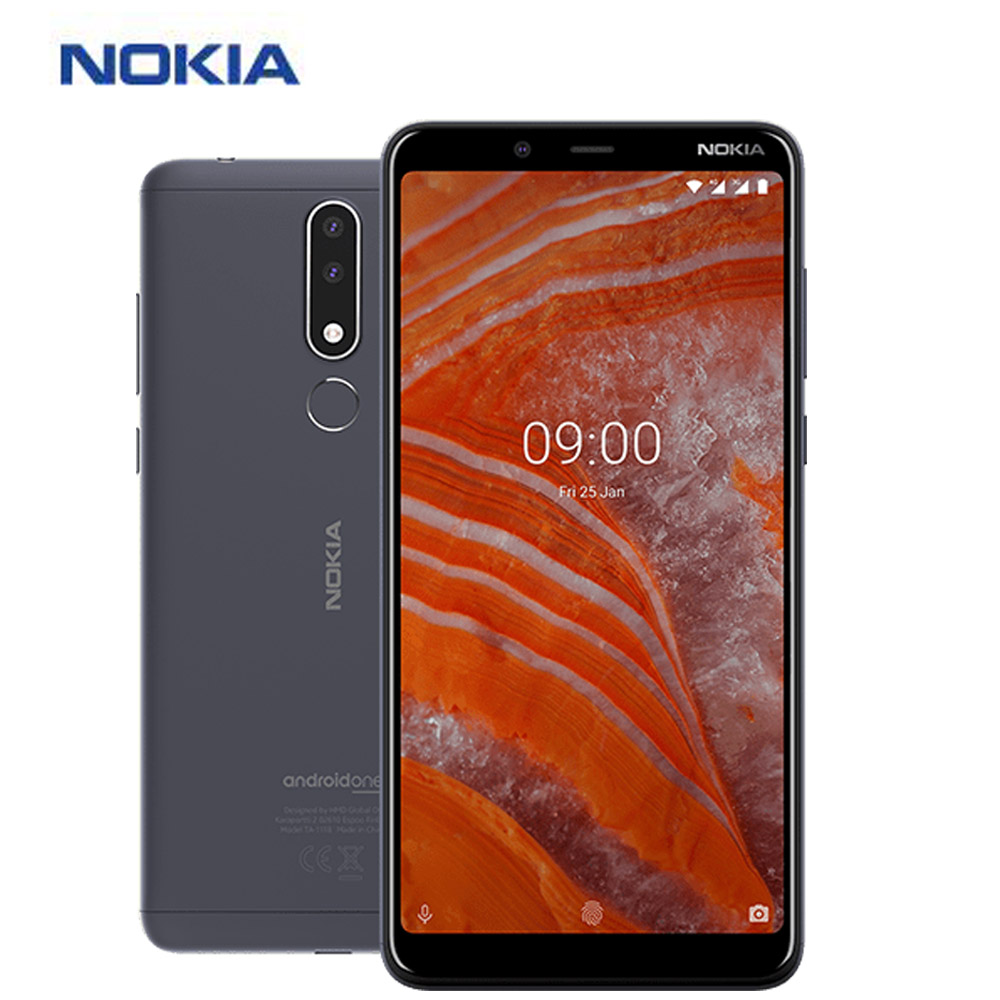 "New Original 6.0"" Nokia 3.1 Plus Mobile Phone 4G LTE 3GB 32GB Dual SIM Octa Core Android 8.1 Fingerprint 13MP NFC Smartphone"