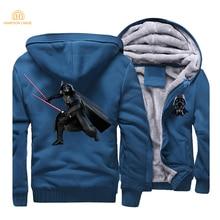 Star Wars Jedi Knights Men Hoodies Movie Darth Vader Sweatshirts 2019 Zipper Jacket Camisetas Hombre Hip Hop Streetwear CM01