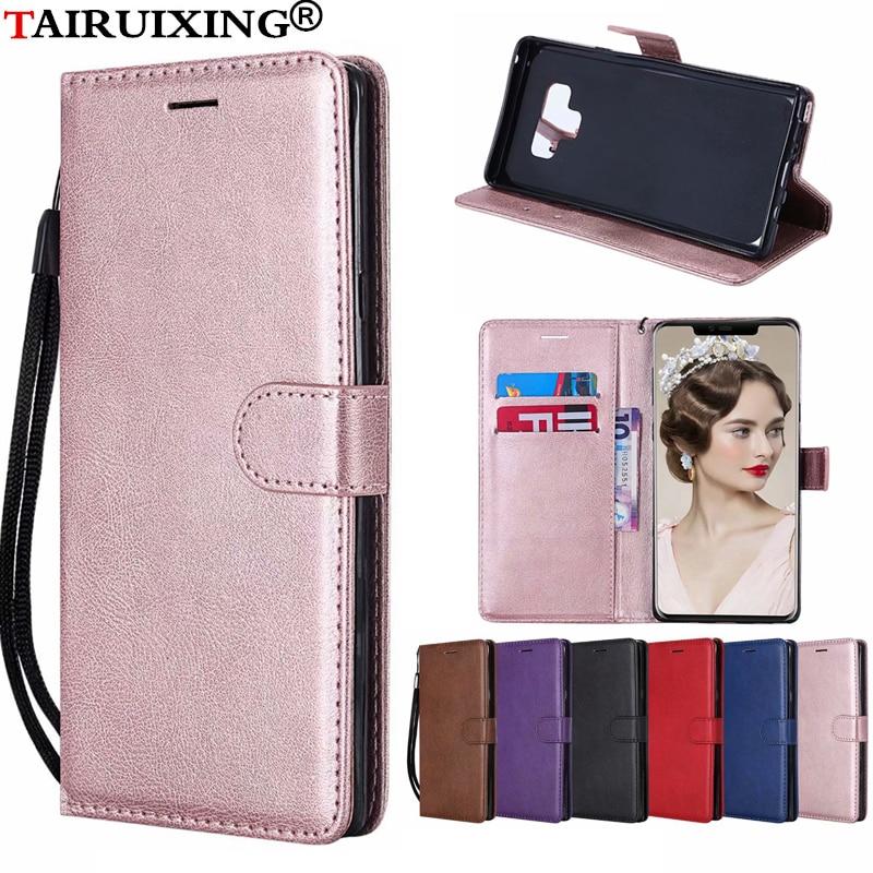 Flip Wallet Leather Case Voor Huawei Y6 Ii Y7 Pro Y6 Y5 Prime 2017 Y9 2018 2019 Mate 20x7 8 9 10 Lite Pro Cover Phone Case Bespaar 50-70%