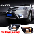For Fiat Freemont Dodge Journey 2014 2015 2016 Car DRL LED Daytime Running Light Turn Lamp Waterproof Decoration Accessories