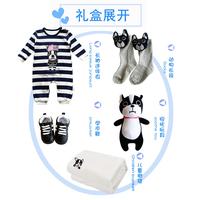 Baby full moon gift 100% cotton gift law bucket pattern spring and summer for newborn baby set gift box best gifts