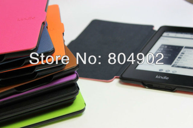 case for all new 2015 Kindle Paperwhite Case pouch cover jacket for Kindle Paperwhite 6 inch Smart cover 10 color free shipping