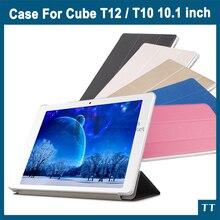 De alta calidad Ultra-delgado Caso de la cubierta de LA PU Para El Cubo T12/T10/X7 Joven libre/T10 Más 10.1 pulgadas Tablet PC