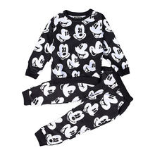 Boys Girls Children clothing suit Sweatshirts Mickey Clothing Set Cartoon Printing fashion Cotton Sweatshirts set boys