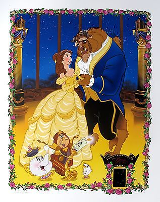 Beauty And The Beast With Film Cels Mm Frame Cells Oil Frameings