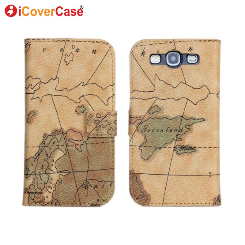 Galleria fotografica Coque for Samsung S3 Neo Case World Map Leather Wallet Fundas for Samsung Galaxy S3 i9300 i9305 Flip Cover Cases Hoesjes Etui