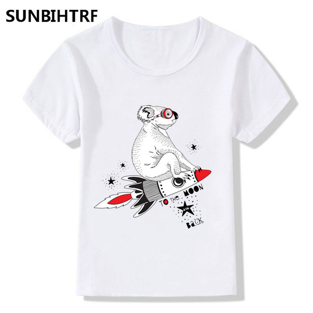 a92b7897d A Koala Sitting In A Rocket Cartoon Design Funny T Shirt Kids