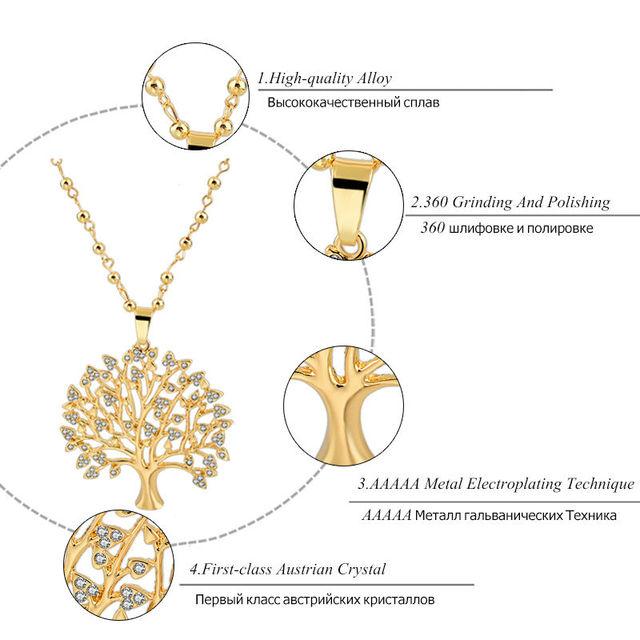 Фото chicvie длинные ожерелья золотого цвета с деревом жизни подвески