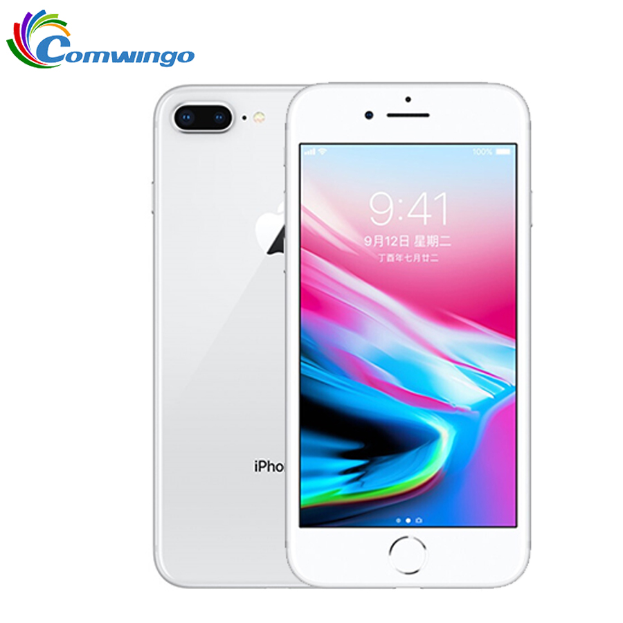 Original Da Apple iphone 8 Plus Hexa Core iOS 64 3GB RAM GB/256 GB ROM 2691mAh 5.5 polegada 12MP Impressão Digital Telefone Móvel LTE