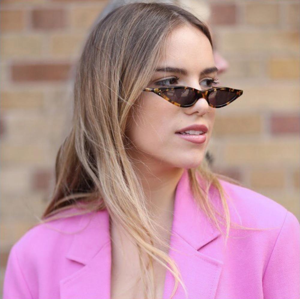 HTB1HhaVdIjI8KJjSsppq6xbyVXa5 - Unisex Flat Top Eyeglasses Small Triangle Frame Cat Eye Sunglasses Women UV400 2018 Fashion Color Ocean Film Sun Glasses Cool