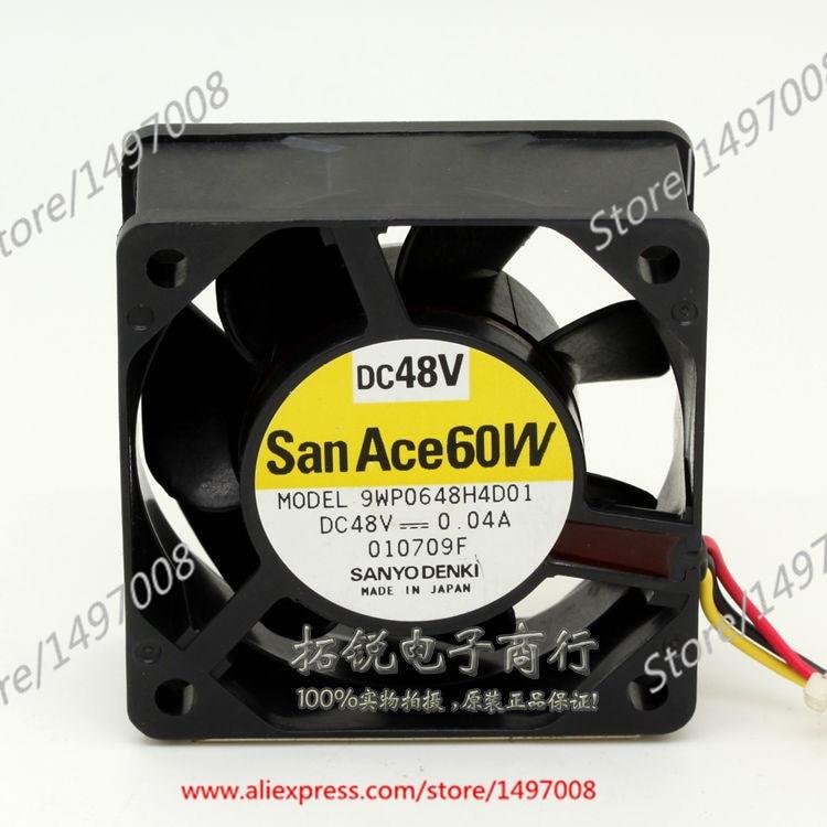 Sanyo  9WP0648H4D01  DC 48V 0.04A   40mm, 60x60x25mm Server Square fan сумка для видеокамеры nereus dc wp500 wp 500