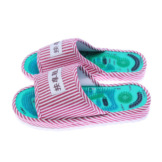 2528a211a Men Women Reflexology Foot Massage Slippers Magnetic Sandals Acupoint  Massage Relaxation Health Foot Care Shoes Pain Relief