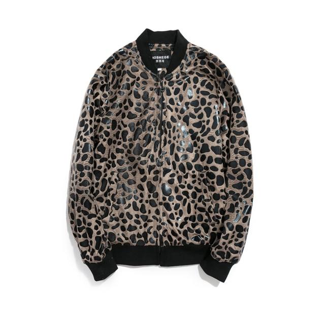 3f679b2b43 Men Jacket 2016 Autumn New Fashion Trend Leopard Print Jackets Men Stylish  Slim Fit Zip Coats Men Outwear Streetwear Plus Size