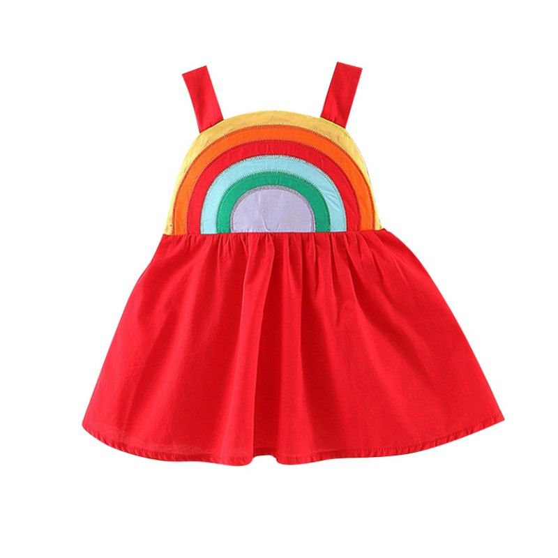 Baby Sleeveless Strap Dresses Rainbow Pageant Party Sundress Children Clothes 1-4Y 2019 New Summer Kids Girls Princess Dress Baby Sleeveless Strap Dresses Rainbow Pageant Party Sundress Children Clothes 1-4Y 2019 New Summer Kids Girls Princess Dress