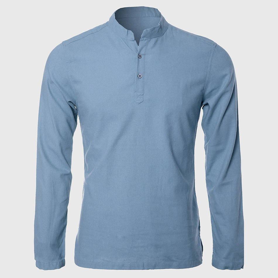 Online buy wholesale mandarin collar shirt from china for Chinese collar shirts for men