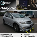Bumper Lip Deflector Lips For Nissan Murano Z51 Front Spoiler Skirt For TopGear Friends to Car Tuning / Body Kit / Strip