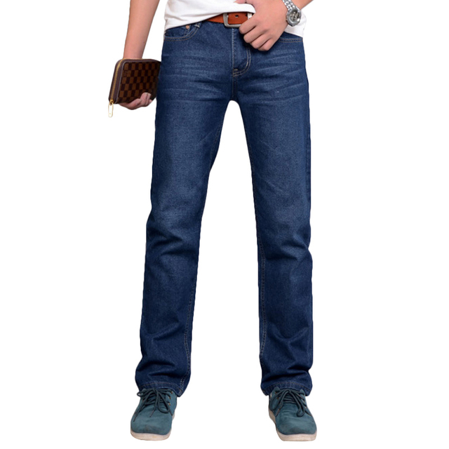 2016 New Arrival All Match And All Season Suitable Loose Version Straight Good Quality Soft Cotton Men's Jeans With Metal Studs