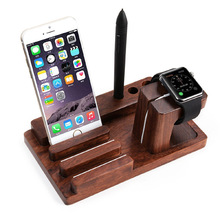 Bamboo Wood Charging Stand Bracket Docking Station Stock Cradle Holder for All Apple Watches iPhone 7S Ipad air Smart Phones