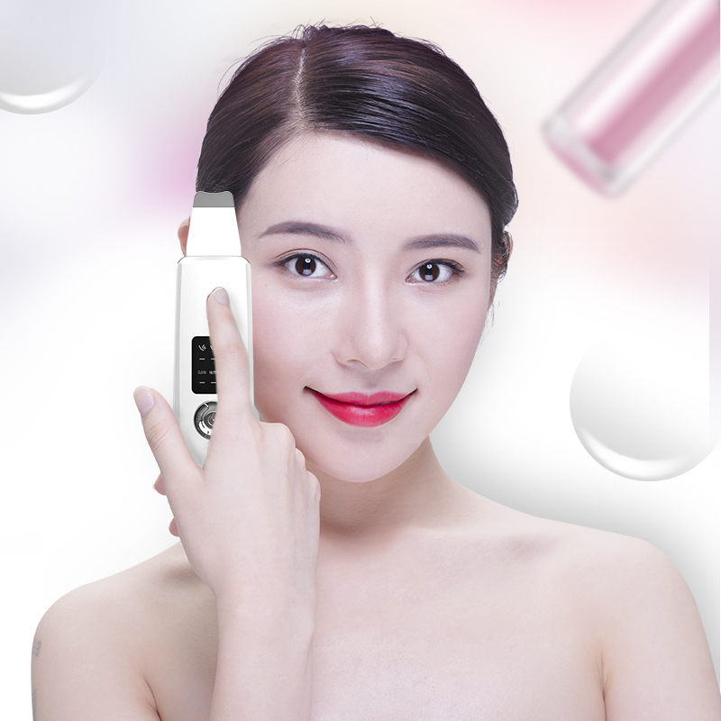 2019 Hot USB Ultrasonic Skin Scrubber Deep Cleaning Facial Peeling Face Cleaner Acne Removal Blackhead Beauty Whitening Machine