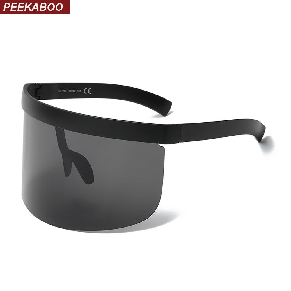 ... Peekaboo negro enorme de gafas de sol hombres vintage 2018 una pieza  lente rojo amarillo grande gafas de sol para las mujeres a prueba de viento  uv400 ... 4875fab1f969