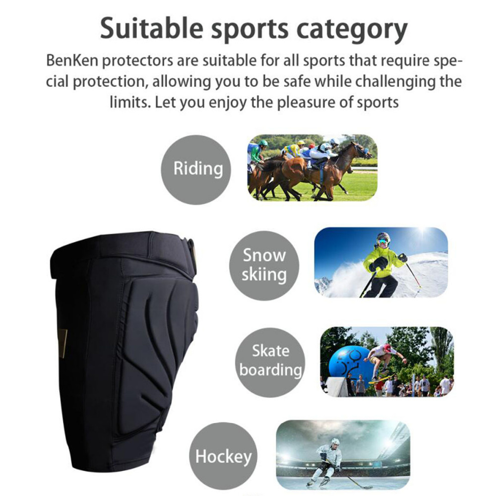 BenKen Ski Butt Pants Hip Protection Butt Guard for Skateboarding Skiing Riding Cycling Snowboarding Overland Racing Armor Pads 35