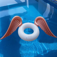 2018 New Swimming Rings Inflatable Angel Wings Ring Float Swimming Pool Tube Lounge Raft Summer Adult Floating Bed Floating Row