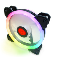 Colorful RGB Cooling Fan Heat Radiator USB Power Ultra Silent Dissipate Temperature Control For 12MM Mute