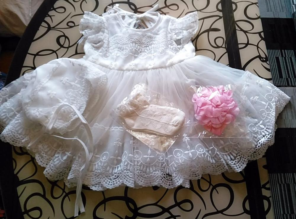 Image 5 - HAPPYPLUS Baby Christening Gowns Infant Baby Girl Dress Baptism for Little Girl Clothes Summer Dresses for Baby Girl Wedding-in Dresses from Mother & Kids