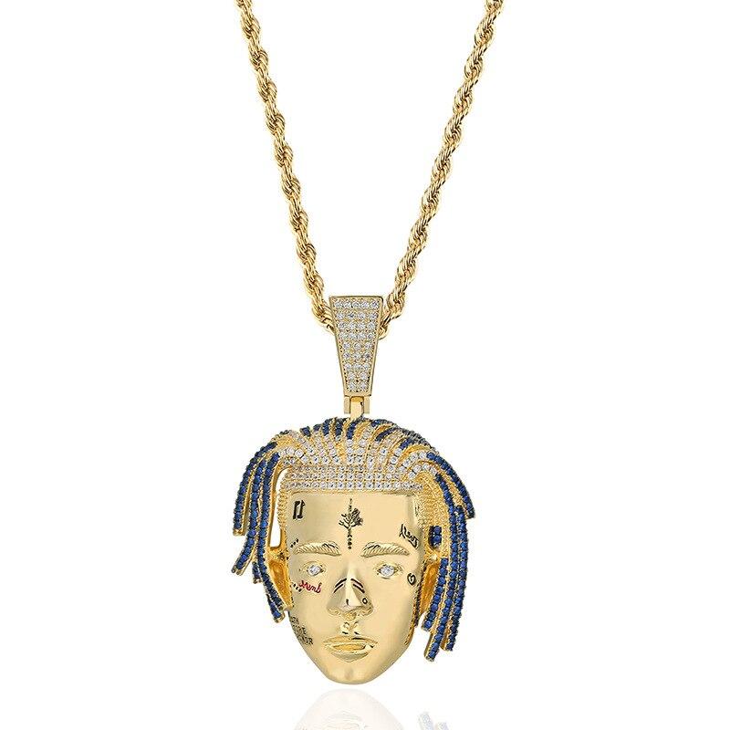 Hip Hop Lil Pump Fashion Jewelry xxxtentacion Pendant Necklaces Cubic Zirconia necklace For Men&Women Gift dropshipping