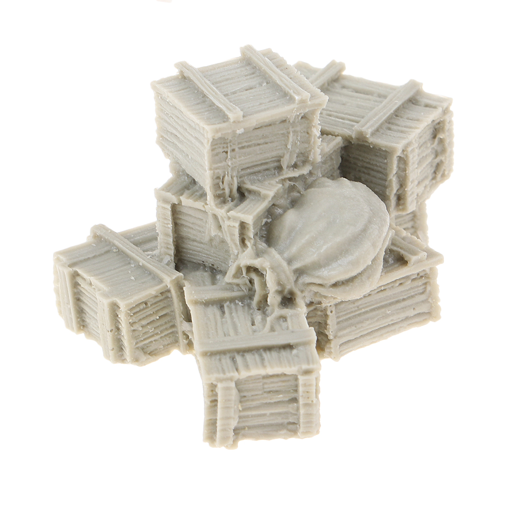 1/35 Resin Figure Resin Boxes and Bags Model Resin Kit Resin Soldier Scene WWII Soldier Scene Accessories