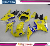 Injection Cowling For Yamaha R6 03 04 2003 2004 Plastics ABS R6 Fairings YZF600 Motorcycle Full Fairing Kits Covers Yellow Camel