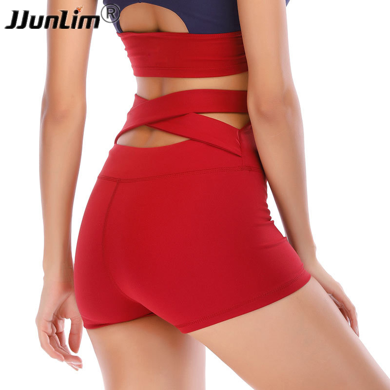Fitness Shorts Women Sexy High Waist Sport Shorts Female Running Shorts Sportswear Quick Dry Yoga Shorts Gym Tight Short Pants londinas ark store hot style summer high waist denim riveted scratched shorts jeans sexy fashion straight frazzle women pants