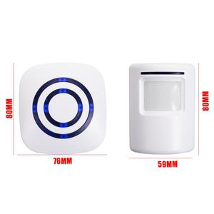 Беспроводной PIR магазин дверной звонок Добро пожаловать Датчик движения вход посетитель дверной звонок Сигнализация для домашней безопасности до 70 метров