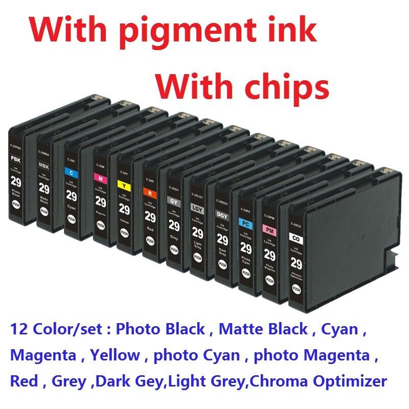 XIMO 12pcs set PGI 29 PGI29 PGI 29 compatible ink cartridge for canon PIXMA PRO 1