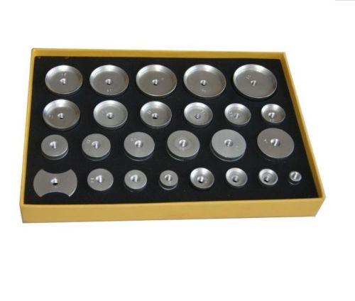 Watchmaker tools New 25pcs Aluminum Watch Press Dies  for Watch Case Closer